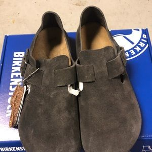 Birkenstock London gunmetal suede 5 medium new